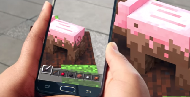 Le blog réalité augmentée Microsoft annonce un jeu mobile Minecraft en réalité augmentée