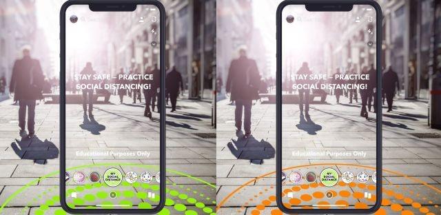 Le blog réalité augmentée Snapchat lance un filtre en réalité augmentée pour encourager la distanciation sociale